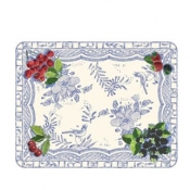 Oiseau Bleu Fruits Acrylic Serving Tray Large