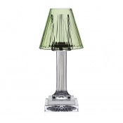 Carmen Candle Lamp - Green 12""