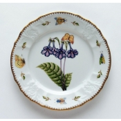 Anna Weatherley Redoute Salad Plate Purple Flower