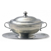 Match Pewter Oval Tray (only) For Tureen