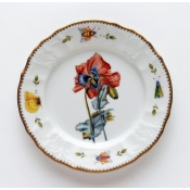 Anna Weatherley Redoute Red Poppy Salad Plate