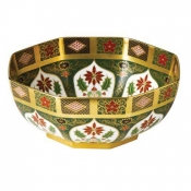 Old Imari Holiday Octagonal Bowl - 8.75""