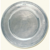Scribed Rim Charger - Large