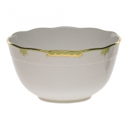 Princess Victoria Green ROUND BOWL - 7.5 ""