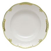 Princess Victoria Green RIM SOUP PLATE  8""