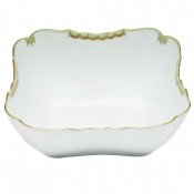 Herend Princess Victoria Green Square Salad Bowl