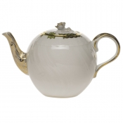 Princess Victoria Green TEA POT W/ROSE FINIAL