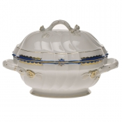 Princess Victoria Blue TUREEN with BRANCH - 2 QT