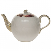 Princess Victoria Pink TEA POT W/ROSE FINIAL - 36 OZ