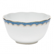 Fishscale Blue Round Bowl