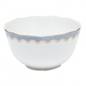 Herend Fishscale Light Blue Round Bowl - 7.5""