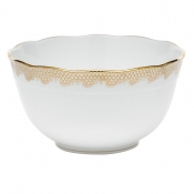 Fishscale Gold Round Bowl