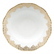 Fishscale Gold Rim Soup Plate