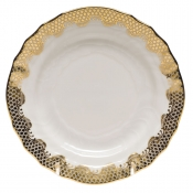 Fishscale Gold Bread and Butter Plate
