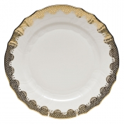 Fishscale Gold Dinner Plate