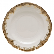 Fishscale Brown Salad Plate