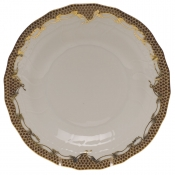 Fishscale Brown Dessert Plate