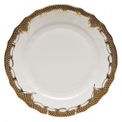 Fishscale Brown Dinner Plate