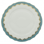Herend Fishscale Turquoise Dinner Plate - 10.5""