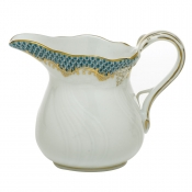 Herend Fishscale Turquoise Cream Jug