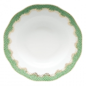 Herend Fishscale Jade Rim Soup Plate