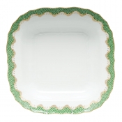 Herend Fishscale Jade Square Fruit Dish