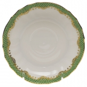 Herend Fishscale Jade Canton Saucer