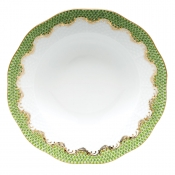 Herend Fishscale Evergreen Rim Soup Plate