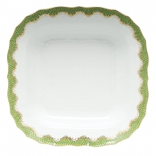 Herend Fishscale Evergreen Square Fruit Dish