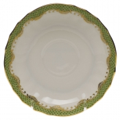 Herend Fishscale Evergreen Canton Saucer