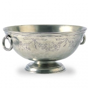 Match Pewter Deep Footed Bowl - Engraved