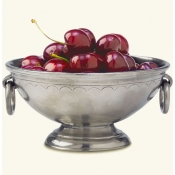 Match Pewter Deep Footed Bowl w /Rings - Small