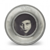 Math Pewter Como Round Frame - Small - 3.3""