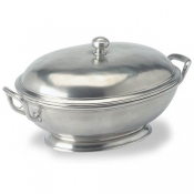 Match Pewter Footed Oval Tureen w/Handles
