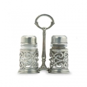 Match Pewter Cutwork Salt & Pepper Caddy
