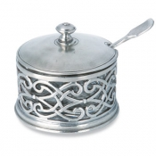 Match Pewter Cutwork Parmesan Dish W/Spoon