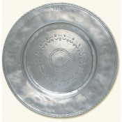 Match Pewter Engraved Round Platter - 17.3""