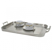 Match Pewter Gallery Tray W/Handles - Large