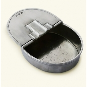 Match Pewter Oval Lidded Cigar Ashtray