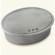 Match Pewter Oval Dresser Box - Small
