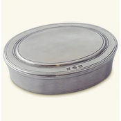 Match Pewter Oval Dresser Box - Medium