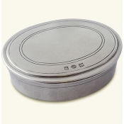Match Pewter Oval Dresser Box - Large