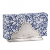 Match Pewter Napkin Holder W/Dinner Napkin