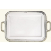 Match Pewter Luisa Rectangular Platter Large w/Handles