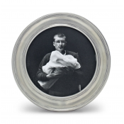 Match Pewter Lugano Small Round Frame - 3.5""