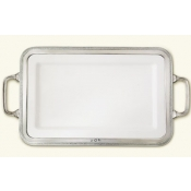 Match Pewter Luisa Rectangular Platter Medium w/Handles