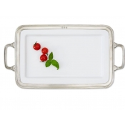Match Pewter Gianna Rectangular Platter Medium w/Handles