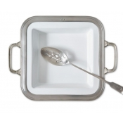 Match Pewter Gianna Square Serving Dish w/ Handles