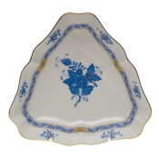 "Chinese Bouquet Blue SMALL TRIANGLE DISH 5.75""L X 1"