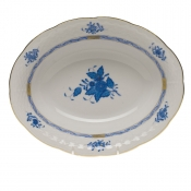 Chinese Bouquet Blue OVAL VEG DISH